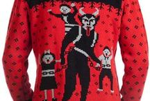 MOB Krampus Collection / Krampus Sweaters, Cardigans, Scarves, Ornaments + more by Middle of Beyond