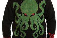 MOB Cthulhu Collection / Cthulhu Sweaters, Cardigans, Scarves, Blankets, Ornaments + more by Middle of Beyond