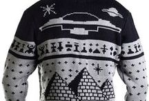 MOB Alien Collection / Alien Sweaters, Cardigans, Scarves, Blankets, Ornaments + more by Middle of Beyond