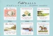 """Odd Balls NEW PRODUCT / 2"""" x 2"""" address labels.  20 up per page.  Avail;able in 12 great designs.  Come with instructions on setting up in Microsoft Word to make at home printing a breeze."""