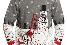 MOB Zombie Collection / Zombie sweaters and ornaments by Middle of Beyond