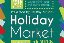 Holiday Market / Artists selling Handcrafted Items in a Holiday Atmosphere in December.