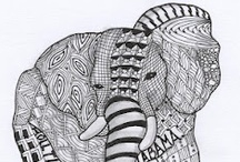 zentangle dieren