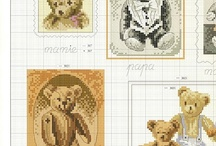 cross stitch - teddy