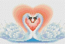 cross stitch - love