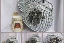 paper knitting, baskets, ... / pletení z papíru / by Ivana Jirankova