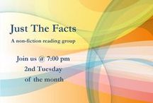 'Just the Facts' Book Group / Woodneath Book Group / by MCPL Woodneath Library Center