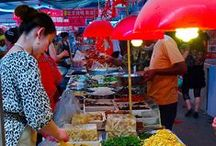 Wang Fu Jing food market / Ideas about street food and food markets in Asia and especially China