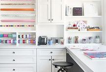 office | craft room / Offices and crafty spaces I love.
