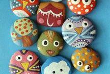 on the rocks/pedras e pedrinhas / paint rocks and others/pedras pintadas e outras
