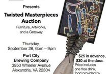 Twisted Masterpieces Fundraiser / Fundraiser held at Port City Brewing Co on September 28, 2017. A live auction of hand painted furniture and silent auction of donated 2D art.