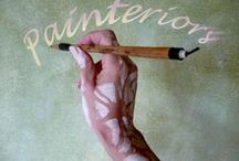 Painteriors / Wallpainting, trompe l'oeil, fresco, mural, handpainted wallpaper, papier peint, wall art, decoration, gilt, stencil, trellis, grisaille, faux finish
