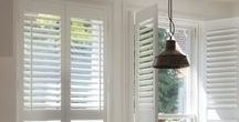 Interior Shutters / Luxaflex® Shutters transform ordinary windows into inspiring highlights of the home. Combining elegance and durability, shutters are perfect for windows everywhere from formal living rooms to rough- and-tumble playrooms – even busy kitchens and steamy bathrooms. http://www.luxaflex.co.uk/products/shutters/