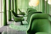 """Spring Green Interiors / Bring the outside in with the fresh colour palette that nature inspires. Subtle shades or eye catching bold colours including Pantone's Colour of the Year """"Emerald""""."""