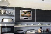 Cabinet Door Kitchen TV / Kitchen Cabinet Door TVs fit into your kitchen door!