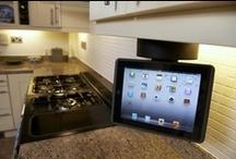 iPad Kitchen Dock / iPad Kitchen Flipdown Dock with Speaker Mount & Bracket