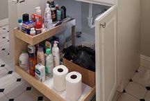 Bathroom Organization / Organize your powder rooms and bathrooms with custom pull out shelves from ShelfGenie of Orlando.  888-663-3818 / by ShelfGenie Orlando