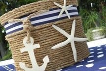 """Nautical Wedding Inspirations / I have a weakness for Nautical Weddings, I don't know why but I just do and think I probably will forever and a day! Here are some of the most unique ways to bring this theme together for your special day and really get your guests """"All Aboard"""" on your wedding day!"""
