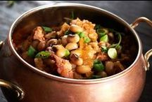 Southern New Year's Day Recipes & Traditions / According to tradition, New Year's Day supper will bring you fortune in the year to come. Here are our favorite recipes for Greens, Black-Eyed Peas, and Hoppin' John.