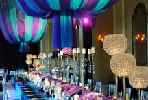 Teal and Purple Wedding / So feminine and chic, Teal and Purple is a classic Wedding Colour Scheme that never seems to fail! Check out these inspirations and see how you can incorporate small touches of colour in your wedding to make your day stand out!