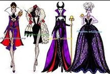 Disney Villains / I love Disney and I'm an adult with a Fashion background! When I found these illustrations of iconic Disney villains I just knew I had to save them all to please my inner child and fashionista persona. LOVE IT!