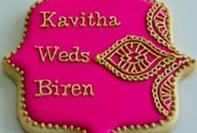 Henna Inspired Wedding / Henna is becoming more popular amongst the Western World and many couples are starting to incorporate the intricate designs throughout their weddings. Here are some ideas for decor that include candles, cookies, shoes, etc. all of which sport henna designs!