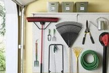 Garage Organization / Ideas and tips for organizing the garage.