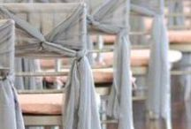 Stunning Chair Ties / Your chair ties do not need to be boring and simple! Instead check out these fun and unique ways to turn that chair sash into an eye-popping piece of decor to accentuate your wedding!