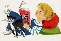 Fiction vintage illustrations