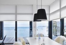 Monochrome Interior / Add monochrome interiors to your mood board. An interiors trend that never goes out of style. Make an impact with Luxaflex® blinds. The Art of Window Styling. http://www.luxaflex.co.uk/
