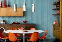 Mid Century Modern Interior / Mid Century modern style is a practical, innovative and stylish interiors trend that's here to stay. Luxaflex® have beautiful blinds to compliment this style, from large window treatments to stunning wood designs, perfect to mix and match in any room.