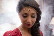 Bridal Maang Tikka, Hair Accessories + Earrings