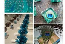 """Peacock Themed """"e-Bay"""" Weddings / An elegant and stylish wedding does not need to cost a small fortune. With a little bit of imagination and patience you can source the items you need to create the wedding of your dreams ...............here are a few tips and resources to help you plan your special day ... with love ...."""