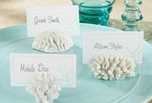 """Beach & Sea Themed """"e-Bay"""" Weddings / An elegant and stylish wedding does not need to cost a small fortune. With a little bit of imagination and patience you can source the items you need to create the wedding of your dreams ...............here are a few tips and resources to help you plan your special day ... with love ...."""