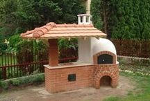 fireplace, outdoor fireplace, barbecue area,outdoor oven ......