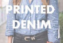 Printed Denim