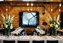 """""""Industrial Love""""- Wedding Inspiration / For the hip, urban couple. Raw industrial elements and setting balanced by soft florals and unexpected details. Think Distillery District meets New York Loft and local foods/curated cocktails."""