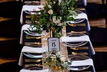 """""""Gatsby Glam""""- Wedding Inspiration / This is the Art Deco, High contrast, glamorous wedding that Gatsby himself would have loved to go to! Personal colours paired with the classic bold black, white and gold. Lush, luxurious florals and sparkling accents. Crisp settings and flowing Champagne are a must!"""