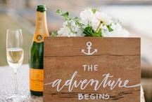 """""""Sail away with me""""- Wedding Inspiration / Nautical themed elements like blues, chunky rope, anchors and compasses can be gimmicky unless done with a very elegant and subtle twist. This wedding is for the adventure couple, the explorers, and the ocean lovers."""