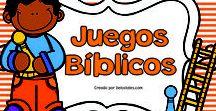 Juegos Bíblicos / En este tablero encontrarás juegos bíblicos listos para imprimir y usar con tus niños en la escuela dominical, célula de niños, hora feliz y devocionales en casa.