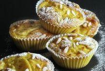 Sweet food: cake + muffin