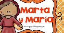 María y Marta / En este tablero encontrarás recursos gratuitos e ideas para aprender sobre María y Marta en la escuela dominical, célula de niños, hora feliz o en los devocionales en casa.