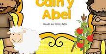 Caín y Abel / En este tablero encontrarás recursos gratuitos e ideas para aprender sobre Caín y Abel en la escuela dominical, célula de niños, hora feliz o en los devocionales en casa.