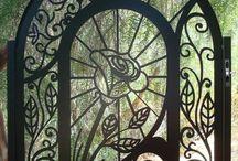 Gates and Ornamental Iron / Unusual  and pretty Iron Garden Gates, windows and doors.  Toni Weidman, Trinity Fl. www.weidmanteam.com