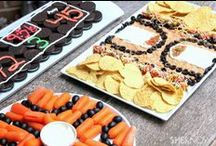 Game Day Munchies / Festive snacks for game day gatherings!