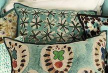 Linge / Linge de lit, couvre-lit, coussins, rideaux...