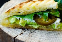 Food: panini + sandwich + tortillias