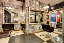 hair salon interior design /  Gibson Hair + Makeup in Charleston SC. Designed by Gibson Concepts + Design #gibsonhairandmakeup #gibsonconceptsanddesign Interior  design