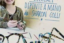 Occhiali dipinti a mano - Sharon Colli / ☆ Occhiali dipinti a mano da Sharon Colli ☆  Sabato 27/5/17 al Emporio Occhiali Fardin di Cordignano le creazioni di Sharon Colli, occhiali unici dipinti a mano