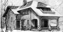 1916 Craftsman House Plans / Gustav Stickley (1858-1942) wrote and edited a monthly magazine called The Craftsman which promoted the artistry and values of the British Arts and Crafts Movement. The Craftsman published these charming home designs in 1916.